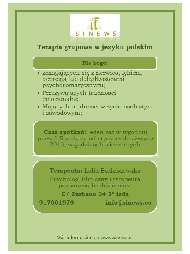 Terapia grupowa w języku polskim