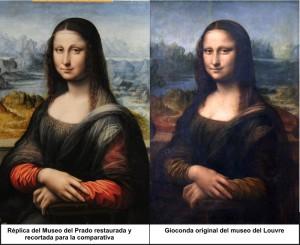 Porównanie kopii z oryginałem Mona Lisy